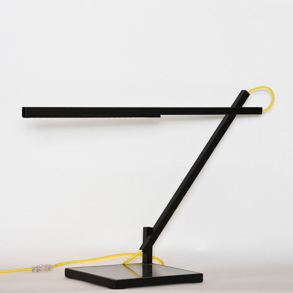 Arch.  Handmade table lamp made of iron and quartz.
