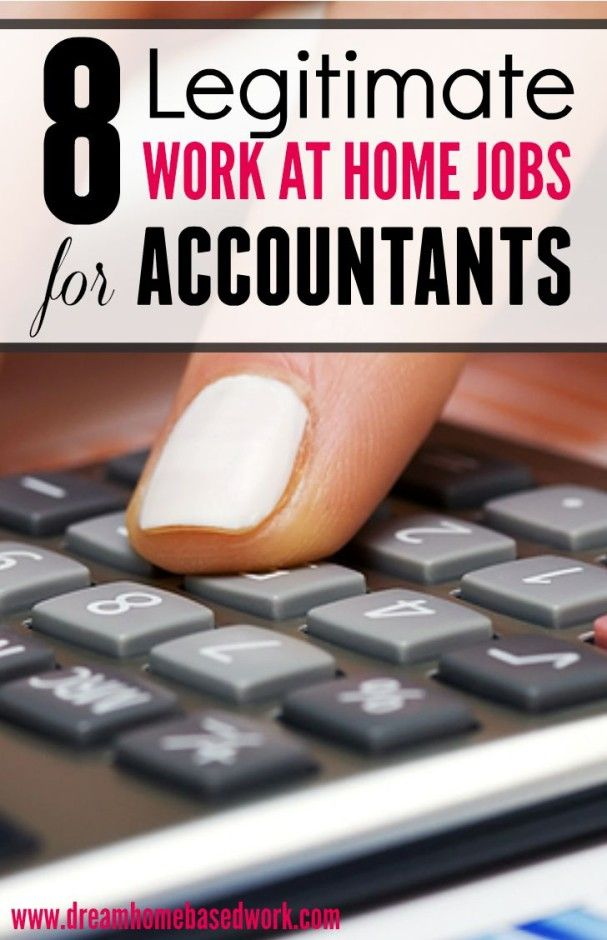 Wondering where to find work at home jobs for accountants?  Here are 8 Legitimate companies...