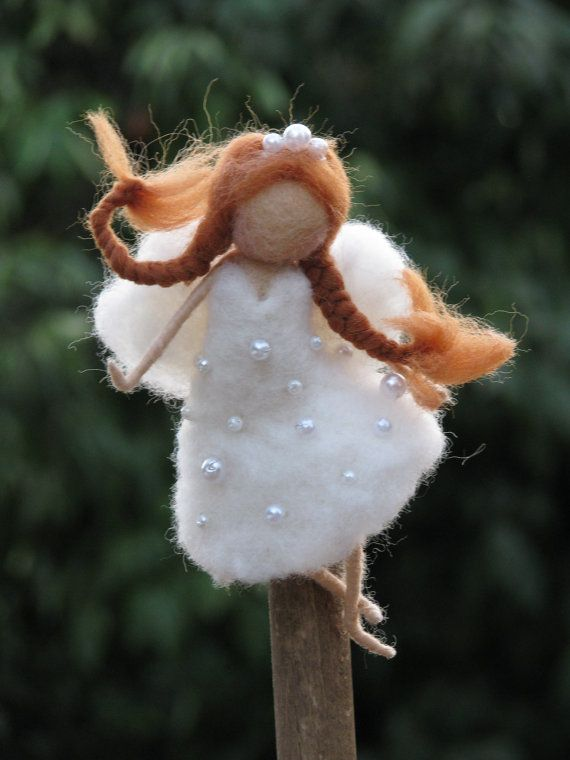 Needle felted Christmas tree topper Waldorf by Made4uByMagic