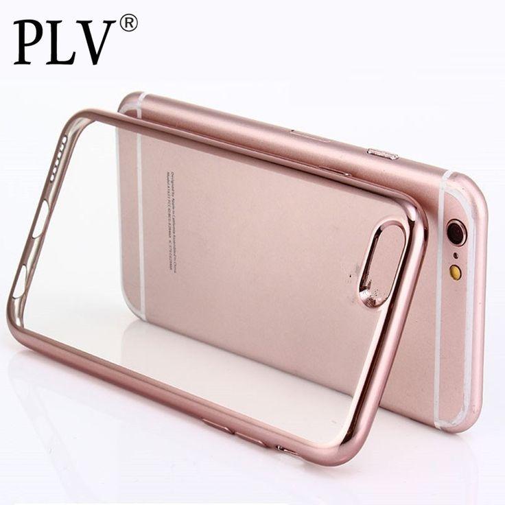 Luxury ultra thin klarem kristall rubber plattierung galvanik tpu handy case für iphone 6 6s plus abdeckung tasche
