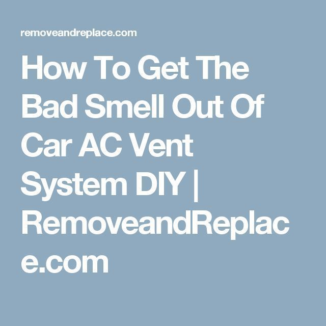 how to clean vomit ot of car vent