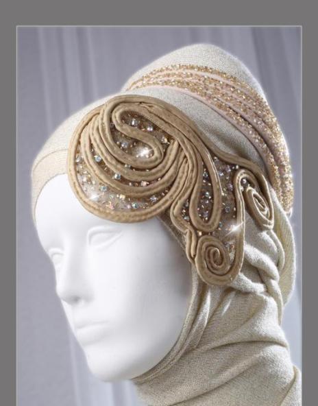 Sparkly gold hijab wedding veils