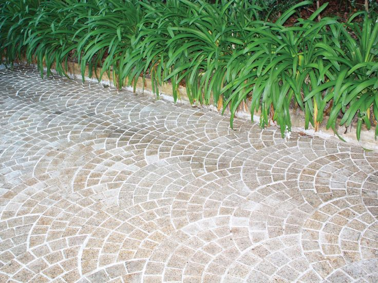 Desert Sand Cobblestones on mesh supplied by Sareen Stone. www.sareenstone.com.au Great colour, easy to install, easy to maintain.