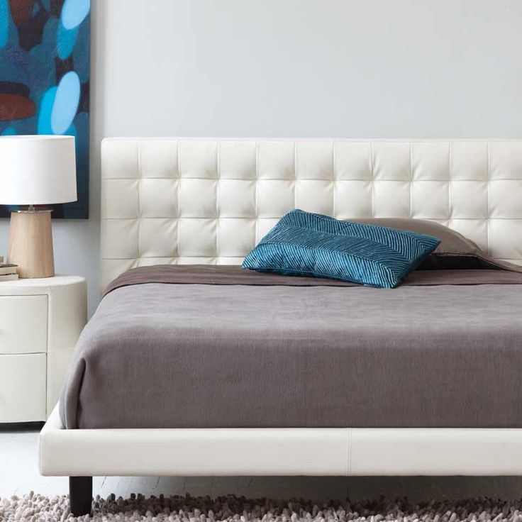 Modern fabric or leather platform bed - Furniture stores Seattle