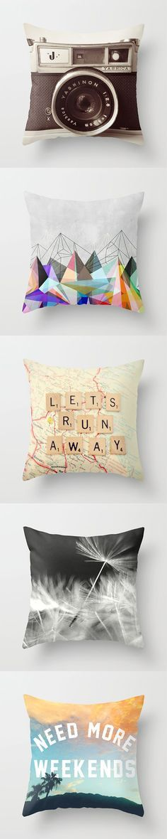 Throw Pillows For the Home Pinterest Lets run away, Diy throw pillows and Nice