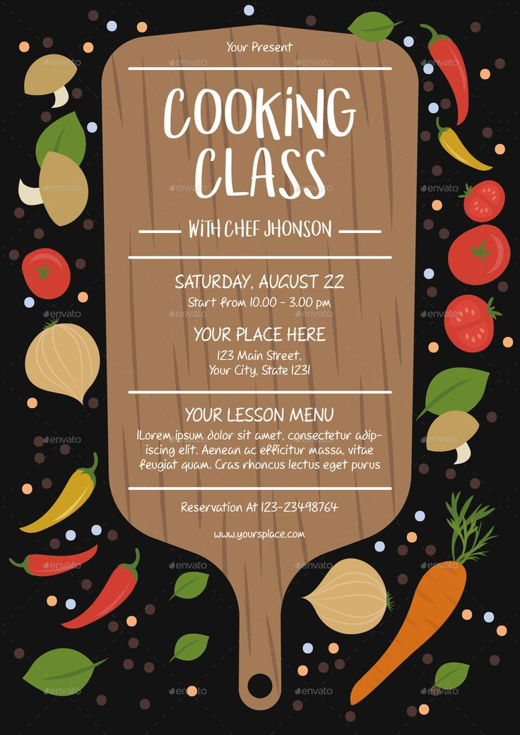 Cooking Class Flyer Template Cooking Classes For Kids