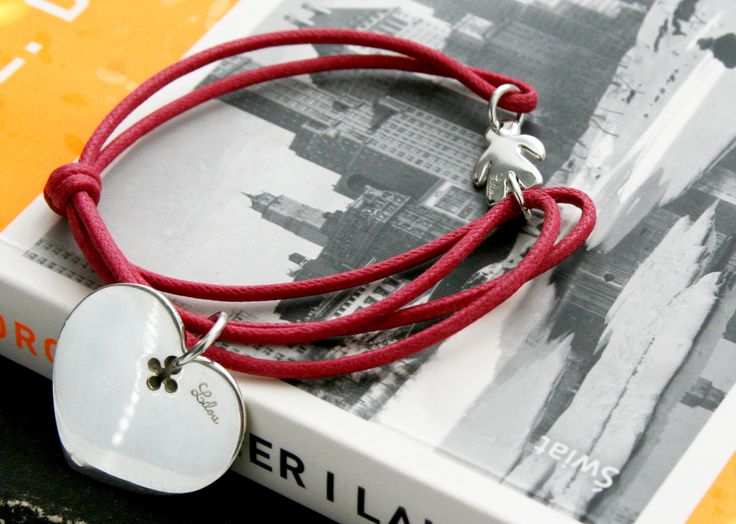 Boy love (heart and boy pendant)! http://lilouparis.com/en/ready_made_sets/#349  #lilou #heart #bracelet #string #silver #red #love