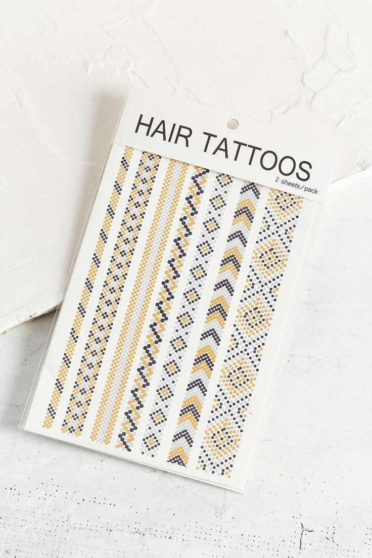 UO Metallic Hair Tattoo Set