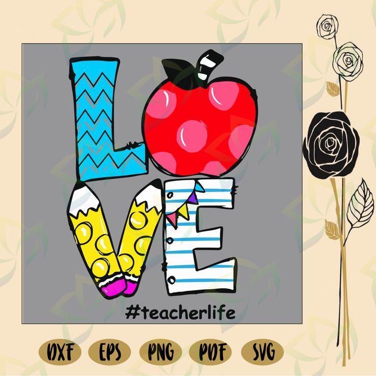 Download Teacher svg, teacher life svg, Love teacher life, teacher ...