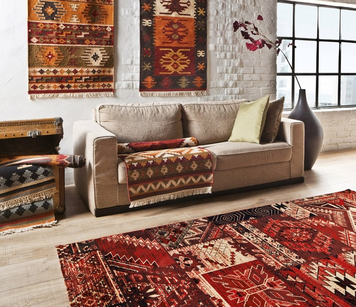 Tapis contemporain Kilim: Textiles Cestería, Living Rooms, Rooms Global, Small Rooms, Applied Patterns, Kilim Textiles, Aztec Patterns, Wonderful Rooms