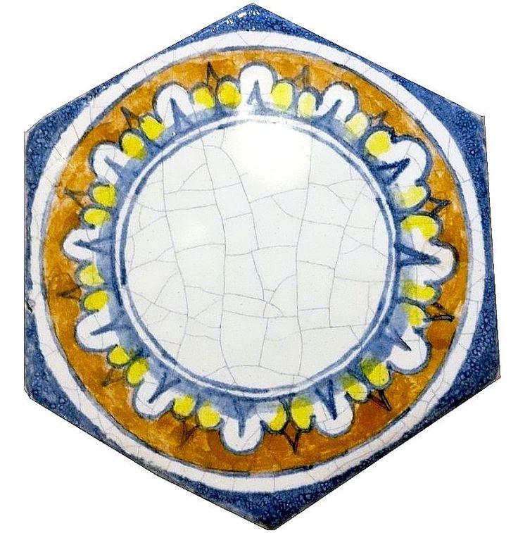Шестигранные изразцовые плитки ручной работы