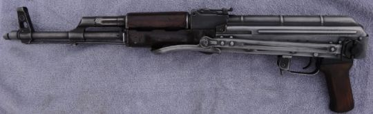 """BFPU  A hodgepodge of AK parts, combination of Romanian and Polish made to look Russian, according to seller. BFPU, or """"Battlefield Pickup"""" are usually worn down, aged and overall crusty looking AK's. Basically they are supposed to look like they were baked in the sun for a decade on a hill in Afghanistan. (GRH)"""