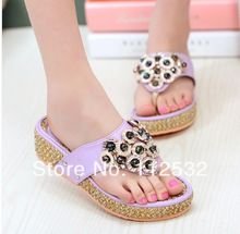 Ladies Summer Flat Sandals 2014 | 2014 summer new fashion ladies summer thong sandals and slippers ...