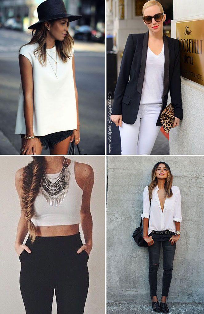 Últimamente quisiera vestirme solo de colores neutros, en especial blanco y negro, es de lo más práctico pues combinan con todo, además usa...