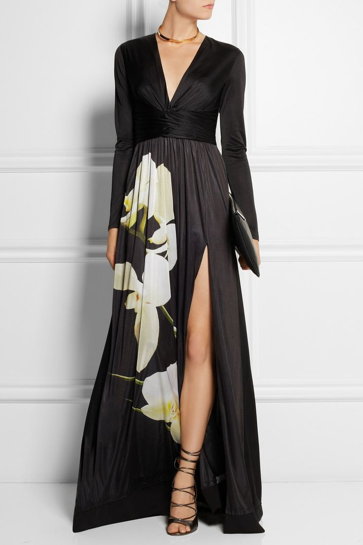 Altuzarra for Target | Orchid-print satin-jersey maxi dress | NET-A-PORTER.COM