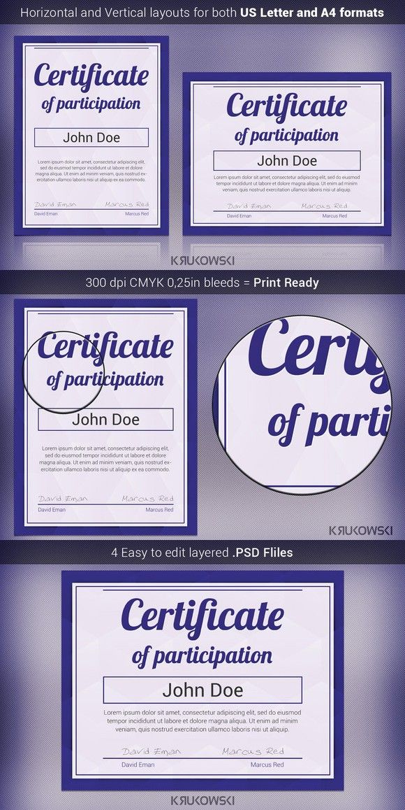 The 25+ best Certificate of participation template ideas on - certificate of participation template word