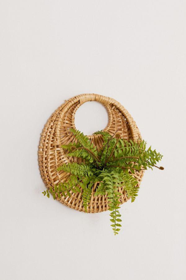 Woven Circle Hanging Basket Planter Urban Outfitters Hanging Wall Baskets Baskets On Wall Plants For Hanging Baskets