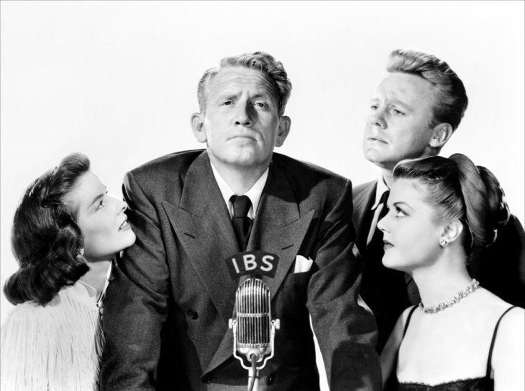 Van Johnson, Angela Lansbury, Katharine Hepburn y Spencer Tracy en 'El estado de la unión'