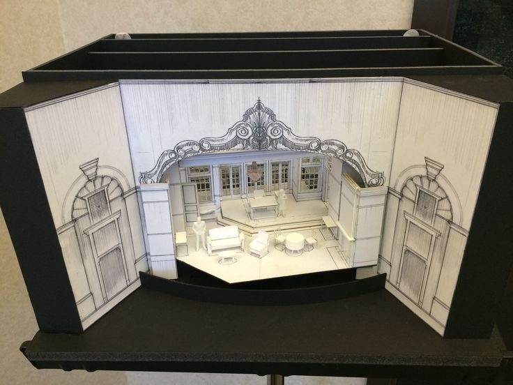 A Song at Twilight set model. Set design by Tom Buderwitz