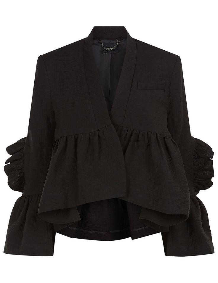 Sewing inspo: Rachel Comey Black Frill Peplum Frida Jacket