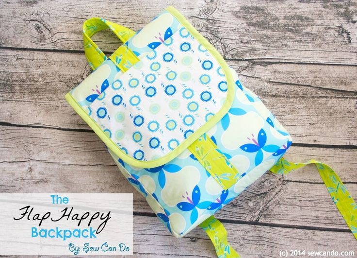 Free FlapHappy Backpack and Bias Binding Sewing Tutorial with Sew Can Do and Bernina #sewing