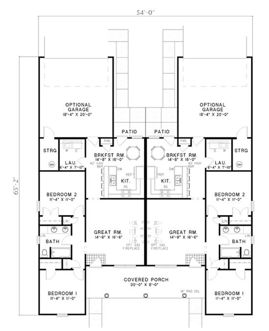 75 best multi unit plans images on pinterest little for Multi unit home plans