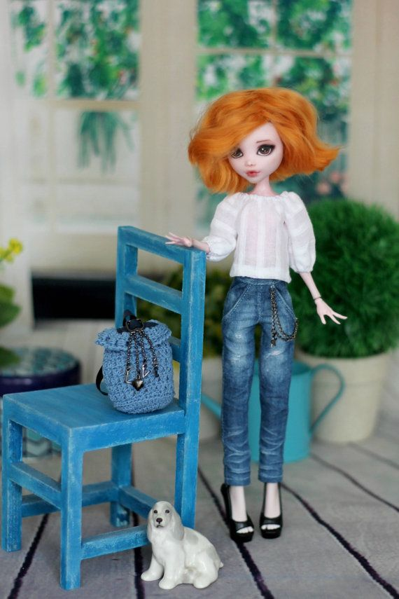 White blouse for Monster High / Ever After High dolls 1/6 size