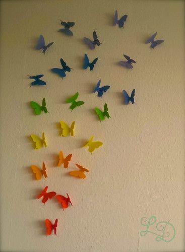 Meine bunte Schmetterlingswand
