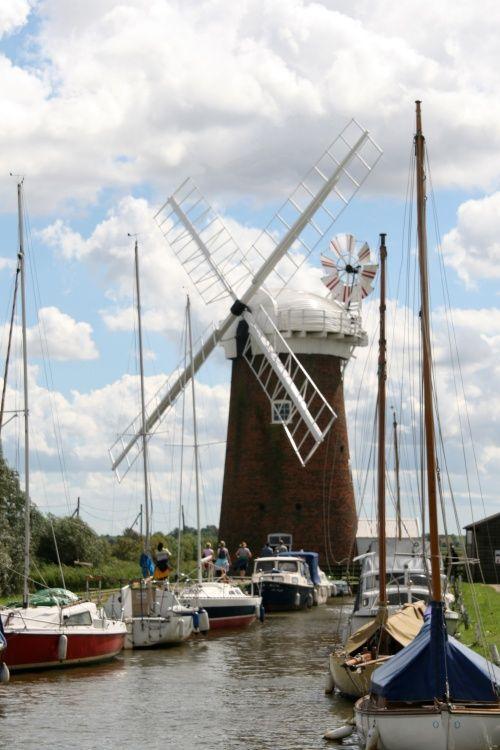 Horsey Wind Pump Norfolk a National Trust Property. Taken 2008 A picture of: Horsey Windpump, Norfolk
