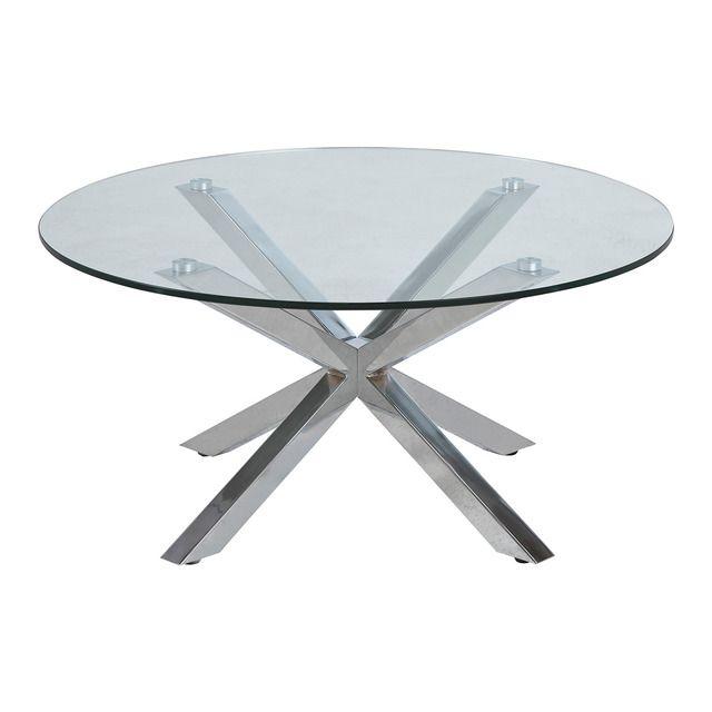 EL CORTE INGLÉS - Mesa auxiliar redonda de acero inoxidable y cristal Heaven El Corte Inglés - 175€