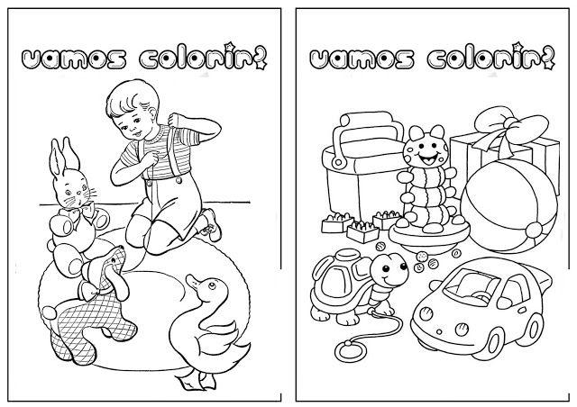 Livro Para Colorir Para Imprimir Tema Brinquedos Livro De
