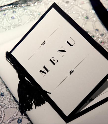 Personal tassel menu