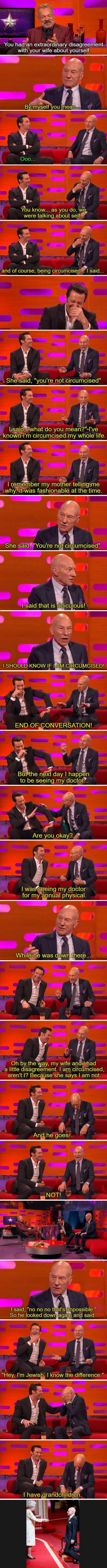 Patrick Stewart talks about his PP