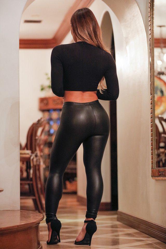 black leggings Tight leather