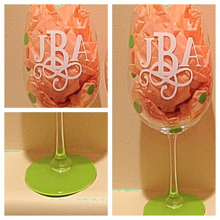 1000 Images About Vinyl Painted Wine Glasses On Pinterest