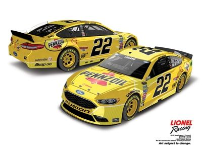 Collect your Joey Logano 2016 Pennzoil 1:24 Nascar Diecast collectible car today!
