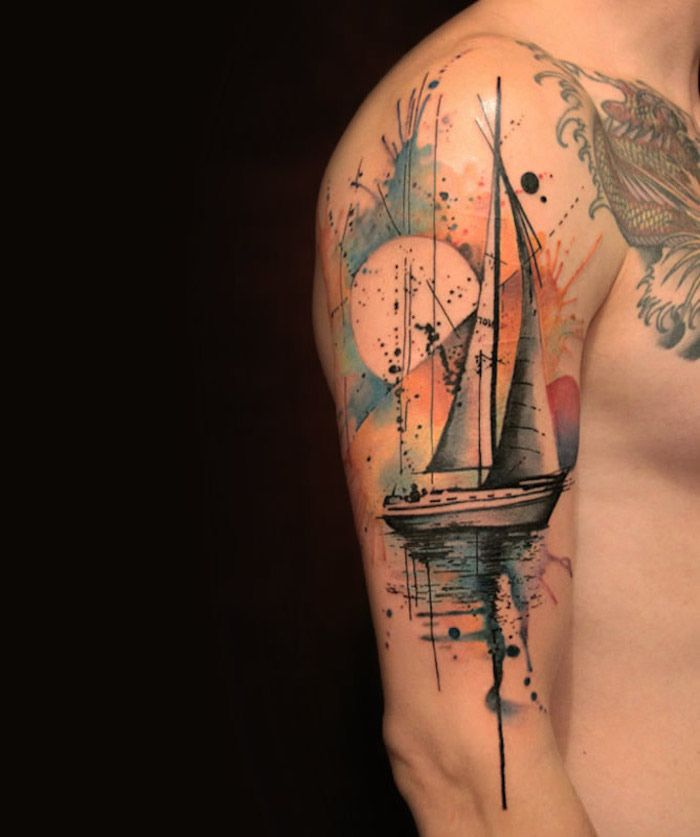 1001 Idees Tatouage Couleur Tatouage Aquarelle Et