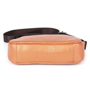 Women Genuine Leather Cowhide Casual Shell Shoulder Bag Phone Bag Crossbody Ba - US$12.66
