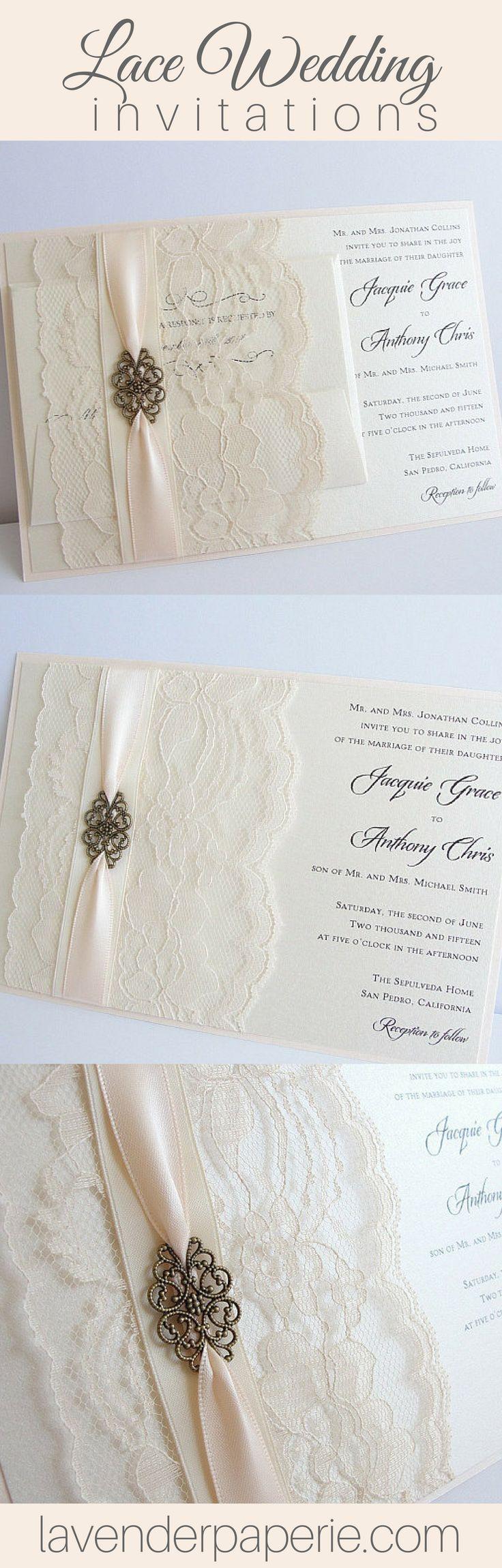 vintage doily wedding invitations%0A Filigree  small  Wedding Invites LaceVintage