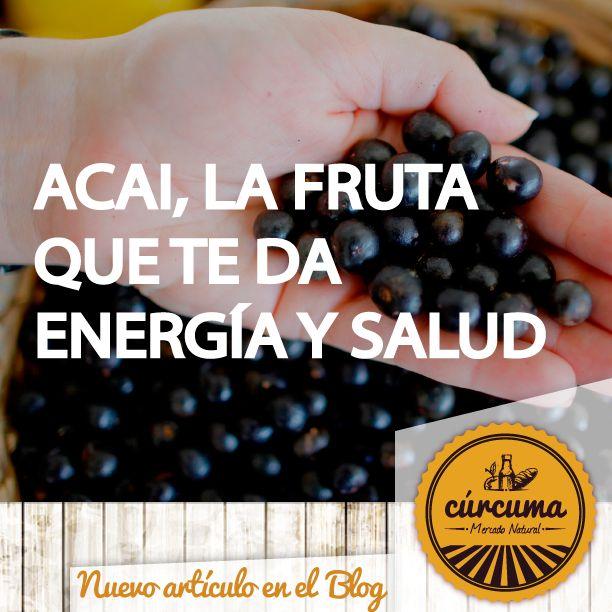 Conoce todos los beneficios de esta fruta. Nueva entrada al blog http://blog.mercadocurcuma.com/batido-acai-energia-y-salud/