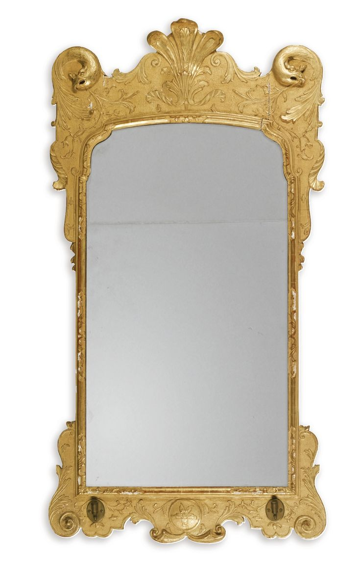 A George I giltwood mirror circa 1720, in the manner of James Moore the Elder | Sotheby's