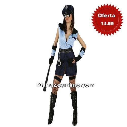 disfraz policia de mujer xl en talla XL (48) en el que incluye vestido, muñequeras, gorra
