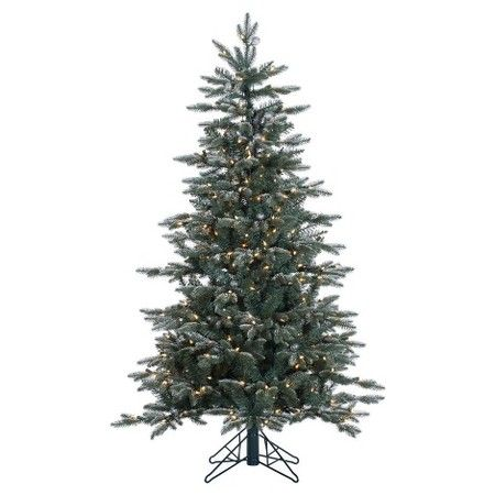 Nice  ft Crystal Frost Balsam Fir Artificial Christmas Tree with Clear Lights Target
