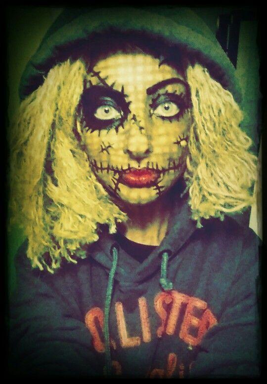 Voodoo doll make up