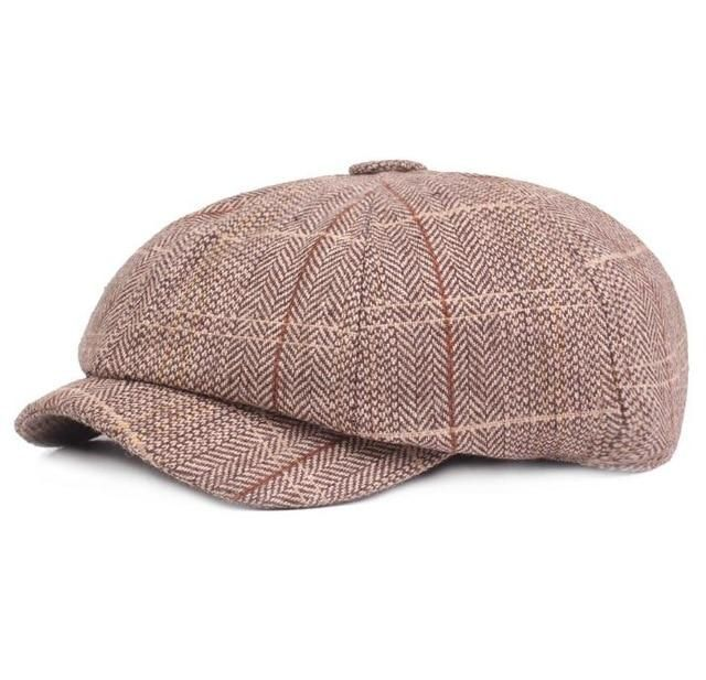 2019 new Tweed Gatsby Newsboy Cap Men autumn winter Hat for men Golf Driving Flat cap Unisex Berets Hat peaky blinders hat bone