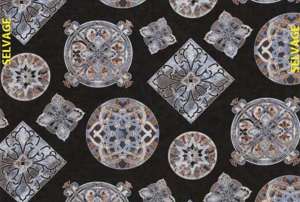 Timeless Treasures - Mosaic C8611-Black