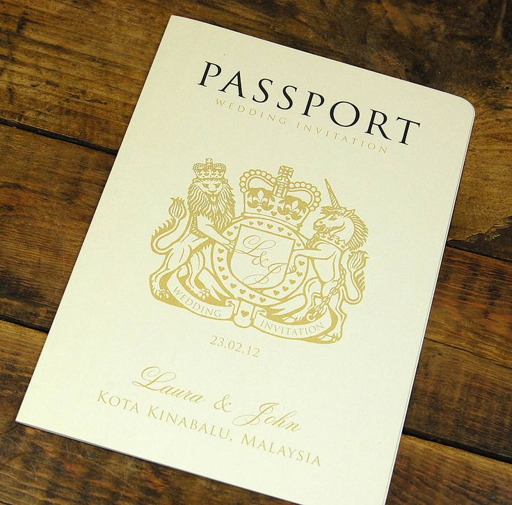 42 best Passport Wedding Invites images on Pinterest | Invites ...