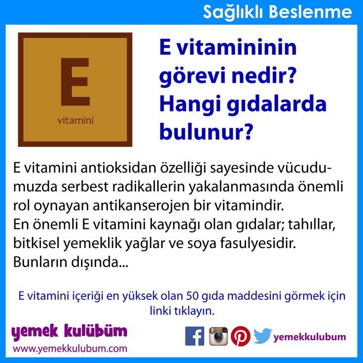 BESLENME : E vitamini hangi gıdalarda bulunur?    http://yemekkulubum.com/icerik_sayfa/e-vitamini