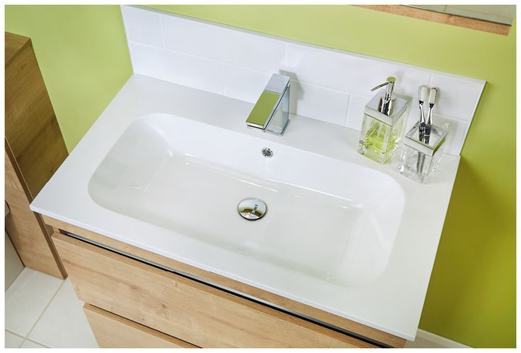 The 800mm double drawer unit with mineralcast basin #bathroomfurniture