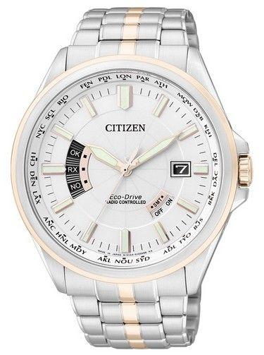 Montre Citizen Eco-Drive Radio Pilotée CB0015-50A, l'heure se synchronise automatiquement grâce au signal satellite, fonction calendrier perpétuel.